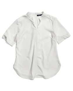 Ladies 1720WS Polyester Georgette Shirt Ivory