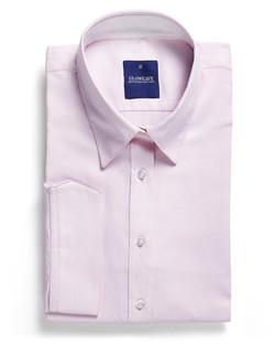 Ladies 1709WL Micro Step Textured Plain Shirt Pink