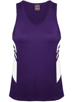 AP 2111 Ladies Tasman Singlet Purple-White.jpg