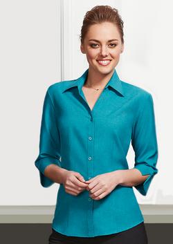 LB3600Ladies-Oasis-Plain-Shirt-3-4-Sleeve