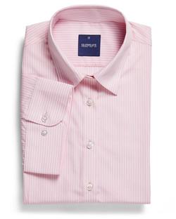 Ladies 1376WS SS Bold Stripe Shirt Pink