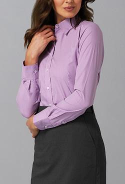 Ladies 1637WL LS Gingham Check Shirt Lilac A