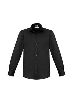 Biz S770ML Mens Monaco LS Shirts Black