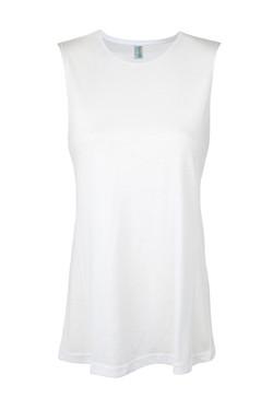 Ramo T405LD Ladies Muscle Tee White