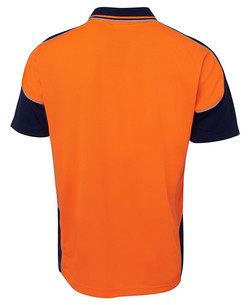 6HCP4 Hi Vis Contrast Piping Polo Back