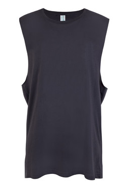 Ramo T405MS Mens Muscle Tee New Charcoal