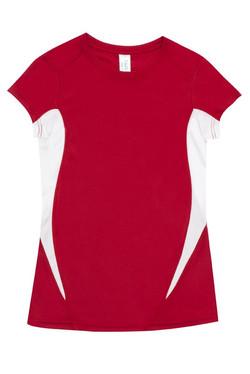 Ramo T447LD Ladies Accelerator Tee Red_White