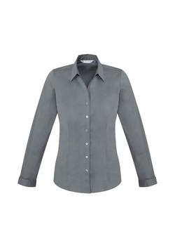 Biz S770LL Ladies LS Monaco Shirt Platinum