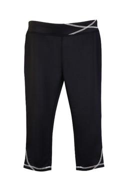 S505LD Ladies Contrast Stitch Legging Black_White.jpg