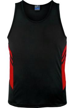 AP 1111 Mens Tasman Singlet Black-Red.jpg