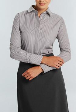 Ladies 1376WL Bold Stripe Shirt Charcoal A