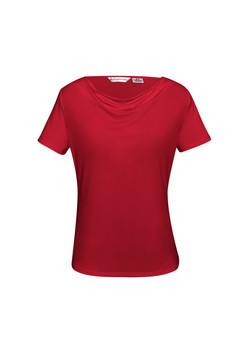 K625LS Ava Drape Knit Top Red