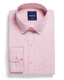 Mens 1637HL LS Gingham Check Hospitality Shirt Pink