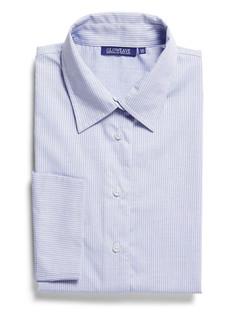 Ladies 1251WL LS Square Dobby Shirt Blue