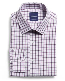 Mens 1712L LS Window Pane Check Shirt Lilac