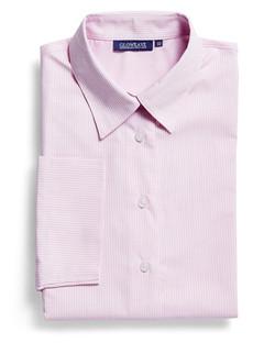 Ladies 1251WL LS Square Dobby Shirt Pink