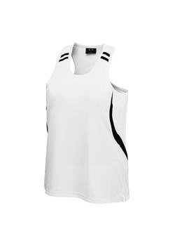 Biz MV3111 Mens Flash Singlet White-Black