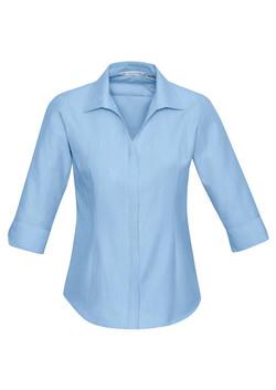 S312LT Ladies 3-4 Sleeve Blue