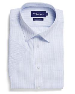 Mens 1295S SS Textured Yarn Shirt White