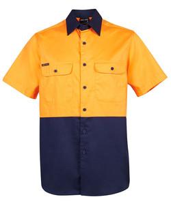 6HWSS Hi Vis SS 150G Shirt Orange_Navy