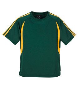 T3110 T3110B Mens and Kids Flash Tee Forest_Gold