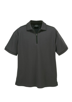p3308 Mens Heritage Polo Graphite-Black