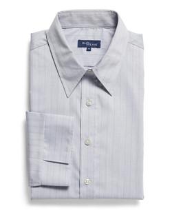 Ladies 1069WL LS Yarn Dyed Herringbone Shirt Silver
