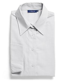 Ladies 1251WL LS Square Dobby Shirt Silver