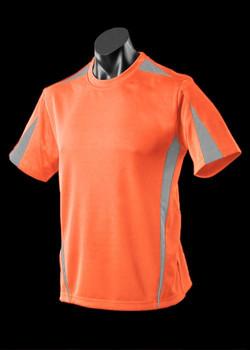 1204 Mens Eureka Tee Orange-Charcoal
