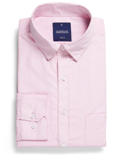Mens 1267HL LS Puppy Tooth Check Hospitality Shirt Pink