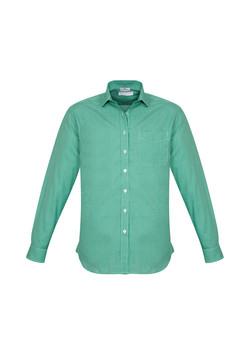 Biz S716ML Mens Ellison Shirts Dark Green