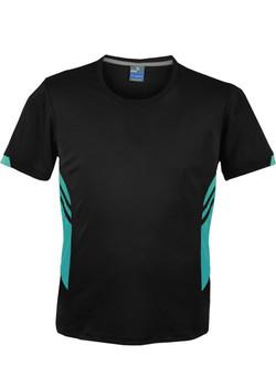 AP 1211 Mens Tasman Tshirt Black-Teal