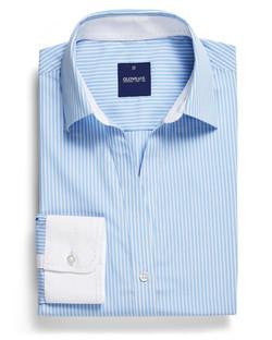 Ladies 1376WYL LS Bold Stripe Y Shirt Blue