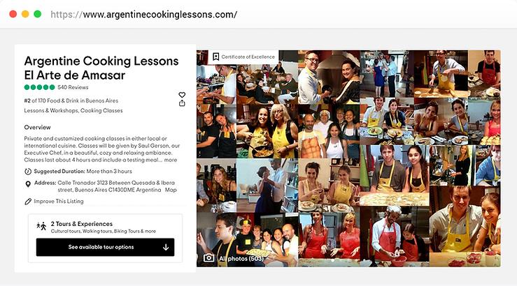 Argentine Cooking Lessons by Saul Gerson El Arte de Amasar TripAdvisor Excellente reviews private online classes