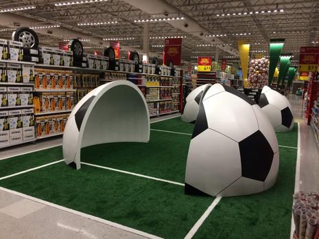 Ambientação Copa Mercado Extra
