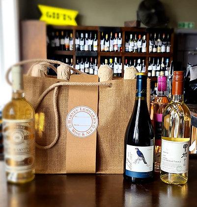 4 Wine Canvas Bag