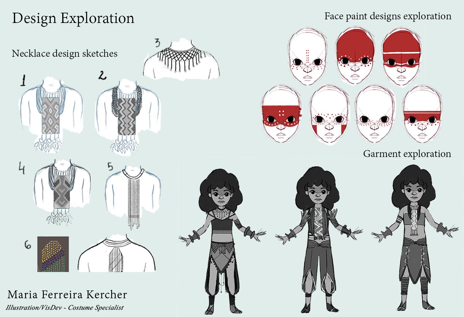 Necklace - Face paint - Garment exploration