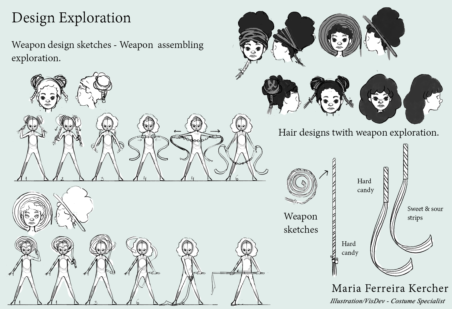 Hair and Weapon Exploration