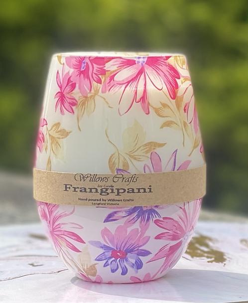 Frangipani Floral Jar