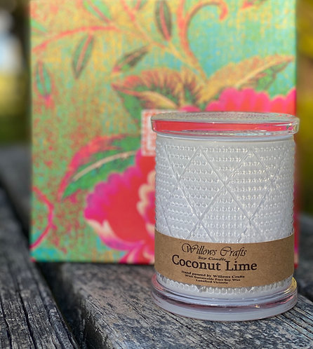 Large Coconut Lime Pattern Jar