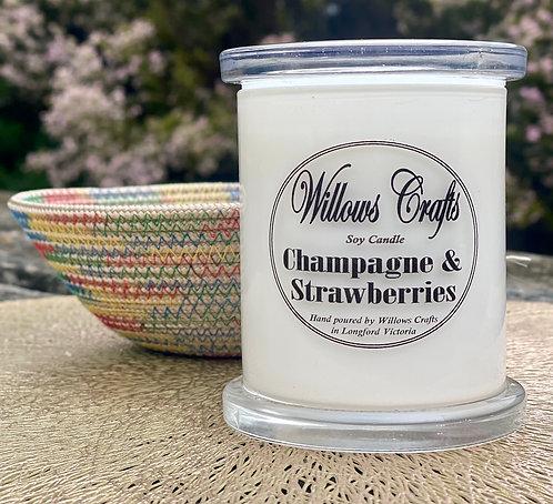 Medium Champagne & Strawberries Jar