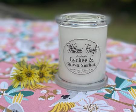 Medium Lychee & Guava Sorbet  Candle Jar