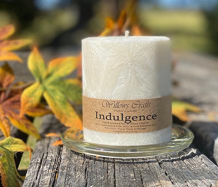 Indulgence Essentail Oil Pillar Candle