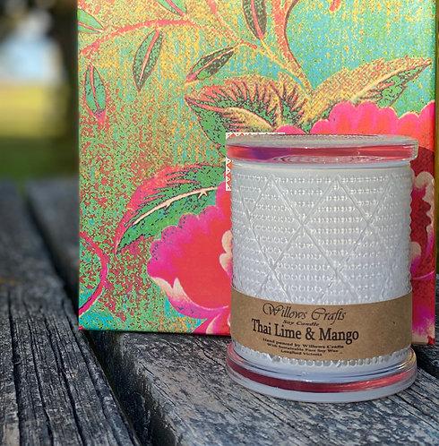 Large Thai Lime & Mango  Pattern Jar
