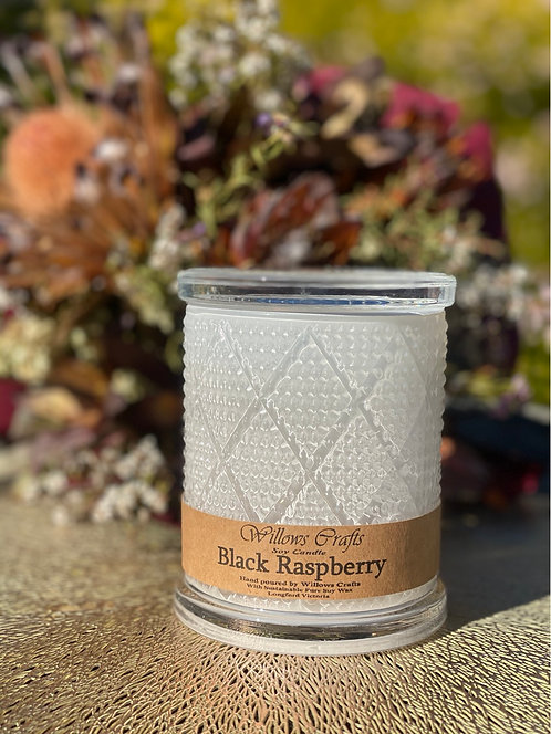 Large Black Raspberry Pattern Jar