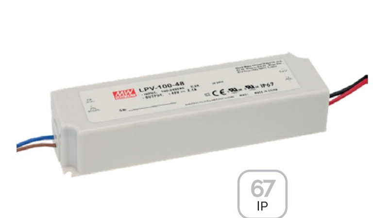 POWER SUPPLY MW 24VDC 35 W IP67 TYPE LPV35-24