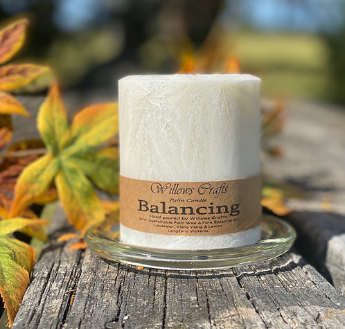 Balancing Essentail Oil Pillar Palm Candle