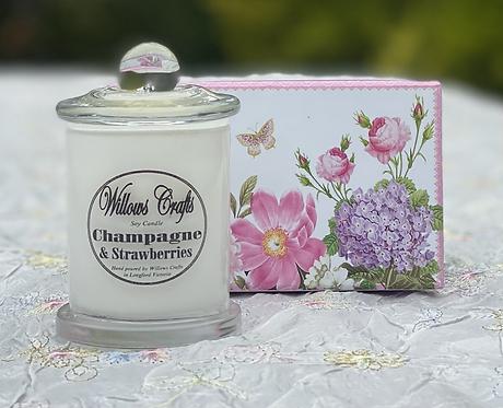 Small Champagne & Strawberries Jar