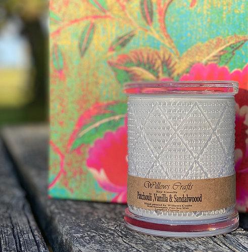 Large Vanilla, Sandalwood & Patchouli Pattern Jar
