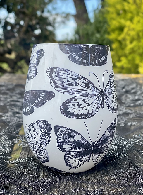 Rose Victorian Rose Butterflies Jar